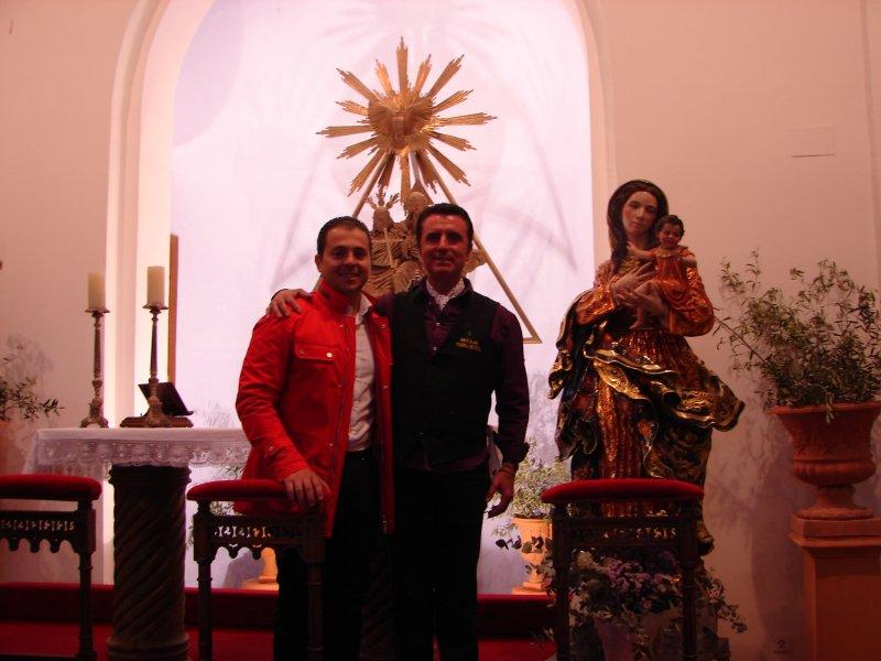 Manuel Martín Nieto con Ortega Cano